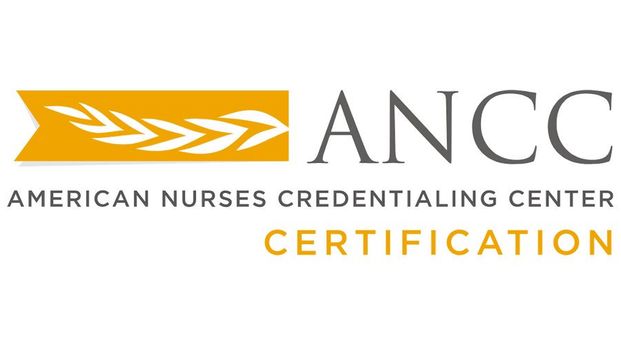 american nurses credentialing center ancc certification vector